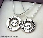 Beautiful 2 x MUM DAUGHTER BFF BEST FRIENDS FOREVER Snake Chain Necklaces 51cm
