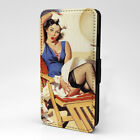 Pin Up Print Design Pattern Flip Case Cover For Apple iPhone - P1013