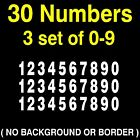 0-9 Numbers Vinyl Sticker Decal Sheet ,  30 Total Numbers, 3 set of 10 numbers