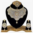 Indian Bollywood Style Fashion Gold Plated Bridal Jewelry Necklace Set Style 14
