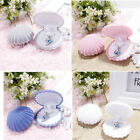 Shell Shape Velvet Display Gift Box Lady Jewelry Necklace Case For Earrings Ring