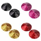 Women's Adhesive Lingerie Bling Sequin round Bra Nipple Cover Pasties Silicon