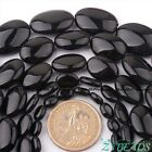 Natural Oval Black Agate Gemstone Beads For DIY Jewelry Making Spacer Strand 15""