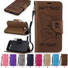 Card Holder Leather Flip Wallet Stand Case Cover For Samsung Galaxy Phone Mobile