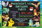 Personalised Pokemon Pokeball Birthday Party Invites inc Envelopes P1