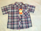 NEW**Quality Toddler Boys Short Sleeve Check Shirt/Top**Black Purple*Size 3 or 4