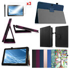 For Insignia 10.1 (NS-P10A7100) Folio Case Stand Cover + 3PCS Screen Protector