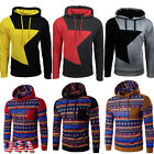 USA Men's Winter Slim Hoodie Warm Hooded Sweatshirt Coat Jacket Outwear Sweater