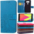 For LG G5 G4 G3 Floral Pattern Shockproof Soft Flip Card Wallet Stand Case Cover