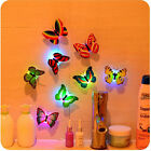 1-10pcs Color Changing Lamp Butterfly LED Night Light Party Bedroom Wall Decor