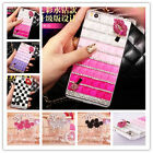 Bling Rhinestones EARS Diamond PEARL Girl's Clear Hard Case Cover For Cell Phone