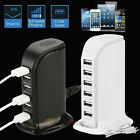 USB 6 Port Home Travel Wall AC Charger Fast Charge Strip Ada