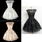 Color Women Sleeveless Lace Casual Evening Party Cocktail Short Mini Dress