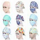 Внешний вид - Men Women Doctor Nurses Printing Scrub Cap Mask Medical Surgical Surgery Hat New
