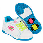 Heelys X2 Dual Up Roller Skate Shoes - Solid White / Neon Multi + Free DVD