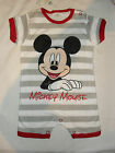new disney mickey mouse summer romper/babygrow.6-9,9-12 or 12-18mths.DEFECTS