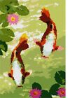Koi Pair Needlepoint Kit or Canvas (Asian /Fish /Japanese /Animal)