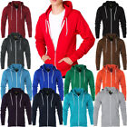 Mens Raiken Apparel Fleece Urban Hoodie Hooded Zip Sweatshirt Top Size