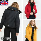 WOMENS LADIES QUILTED WINTER COAT PUFFER FUR COLLAR HOODED JACKET ALL SIZES