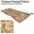 ARMY CAMOUFLAGE PRINT DESIGN FABRIC LYCRA SPANDEX POLYESTER ALOBA CHIFFON