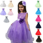 Girl Communion Party Prom Princess Pageant Bridesmaid Wedding Flower Girls Dress