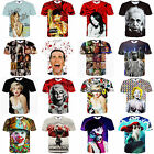 Fashion Men's Womens 3D Painting Short Sleeve Casual Tee Tops T-Shirts Shirts