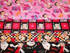 BETTY BOOP #2 FABRICS Sold INDIVIDUALLY NOT AS A GROUP By the HALF YARD $9.99 USD