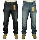 MENS ENZO STRAIGHT LEG JEANS IN BLUE LIGHT WASH & DARK WASH COLOURS RRP £24.99