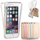 COQUE SILICONE TRANSPARENTE PROTECTION 360° INTEGRAL AVANT + ARRIERE POUR IPHONE
