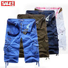 Men Short Cargo Pants Trousers Casual Trousers Combat Army Military FT