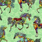 "QUILTING TREASURES ""PAINTED PONIES"" #24270-Q MOD HORSES FABRIC (MAKE SELECTION)"