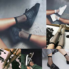 Fashion Women Ruffle Fishnet Ankle High Socks Mesh Lace Fish Net Short Socks-OO