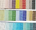 540 or 270 Craft Vitreous Glass Mosaic Tiles 1x1cm 30 Different Colours in each