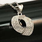 A1-P372 Fashion Silver CZ Rhinestone Necklace Pendant 18KGP Crystal