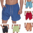Mens Swimming Board Surf Shorts Mens Plain Colour Beach Holiday Trunks Pockets