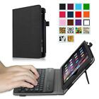 Apple iPad mini 3/2/1 PU Leather Folio Stand Case Cover w/ Bluetooth Keyboard