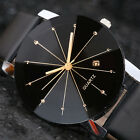 Luxury Men's Watch Stainless Steel Leather Band Analog Quartz Date Wrist Watches