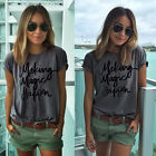 2017 New Fashion Womens Summer Tops Loose Tee Short Sleeve T shirt Casual Blouse