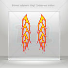 Decal Stickers Coloured Pair Of Flames Helmet Motorbike Bike Garage mtv RS756