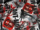Ant Man Allover CP54405 Marvel Red Black Springs Sewing Quilting Cotton Fabric