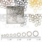 30g Approx120-1860pcs Open Jump Rings Fit Jewellery Findings 3-14mm