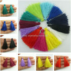 20PCS 45mm Handmade Silky Tassels Decoration Pendant Key Chains Bag Accessories