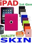 AMZER Silicone Jelly Skin Case Soft Gel TPU Cover Screen Guard For iPad 1st Gen