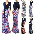 Vivicastle Usa Made Colorful Printed 3/4 Slv Wrap Tie Waist Long Maxi Dress Sml