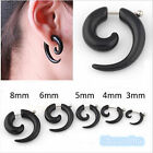 Acrylic Spiral Gauge Ear Plug Fake Cheater Stretcher Flesh Earrings Piercing Hot