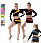 Pep Squad Dance Team Costume SILVER and BLACK Cheerleader Jazz Tap Clearance