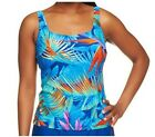 Silver by Gottex Blue Paradise Tankini Top A234090