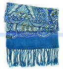 Charming! 3 Colors 100% Wool Scarf/Shawl Long Blue Flowers Scarves Wraps | FJUS