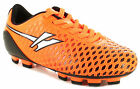 New Boys Orange Gold Synthetic Leather Football Boots Bladed Sole UK SIZES