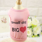 Small Dog Vest Pet Puppy T shirt Cat Clothes for chihuahua teacup yorkie maltese